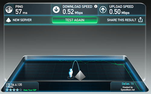 laptop tethering tmobile one speedtest