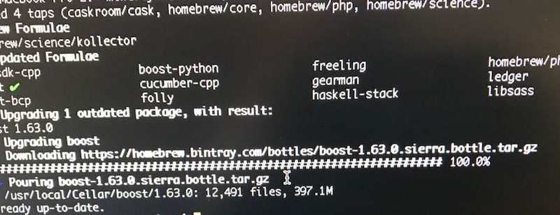 osx homebrew update