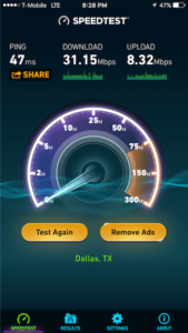speed test tmobile from phone