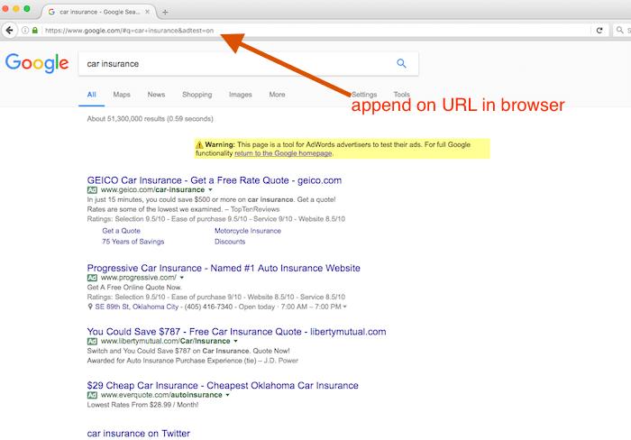 adwords test google